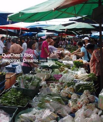 thai night market, thailand, vegetable