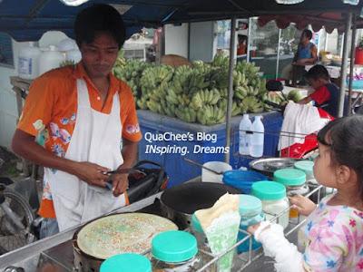 thai night market, phuket, thailand - pancake