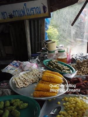 thai night market, phuket, thailand - corn