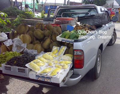 thai food, thailand - fruits, durian, mango