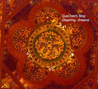 taipei grand hotel, taiwan - plum flower plafond