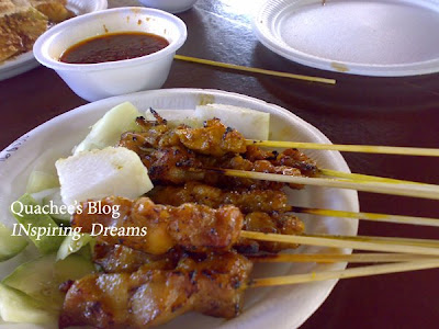 East Coast Park Singapore hawker's centre, chicken satay