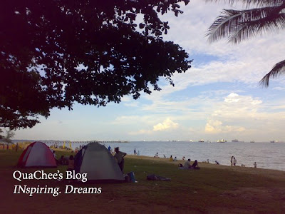 east coast park, singapore, beach, camping