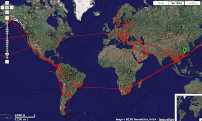 Globerovers Travel Photography Route Round The World Map - Where i have traveled map