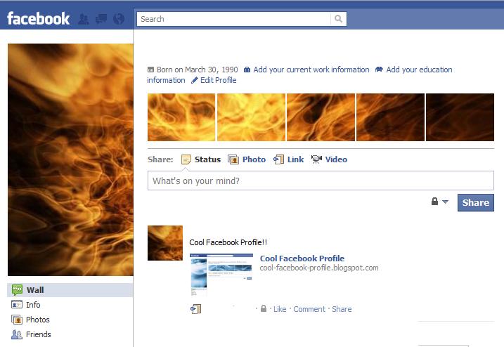 Cool Facebook Profile