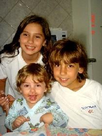 Giulia, Yohan e Enzo