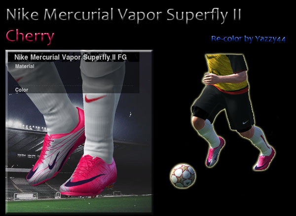 wholesale dealer 4fd21 8bcfe Pes 2011 Demo Nike Mercurial Vapor Superfly II Cherry Re-color by Yazzy44