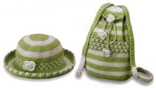 06 200 and 06 307 Kız Çocukları İçin Çanta Şapka Takımı