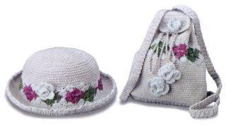 06 208 and 06 302 Kız Çocukları İçin Çanta Şapka Takımı