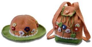 06 235 and 06 324 Kız Çocukları İçin Çanta Şapka Takımı