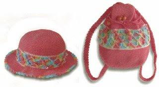06 242 and 06 340 Kız Çocukları İçin Çanta Şapka Takımı
