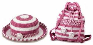 yyyyyyconjunto Kız Çocukları İçin Çanta Şapka Takımı