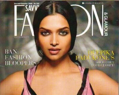 Deepika Paddukone dazzeld on the cover of Savvy
