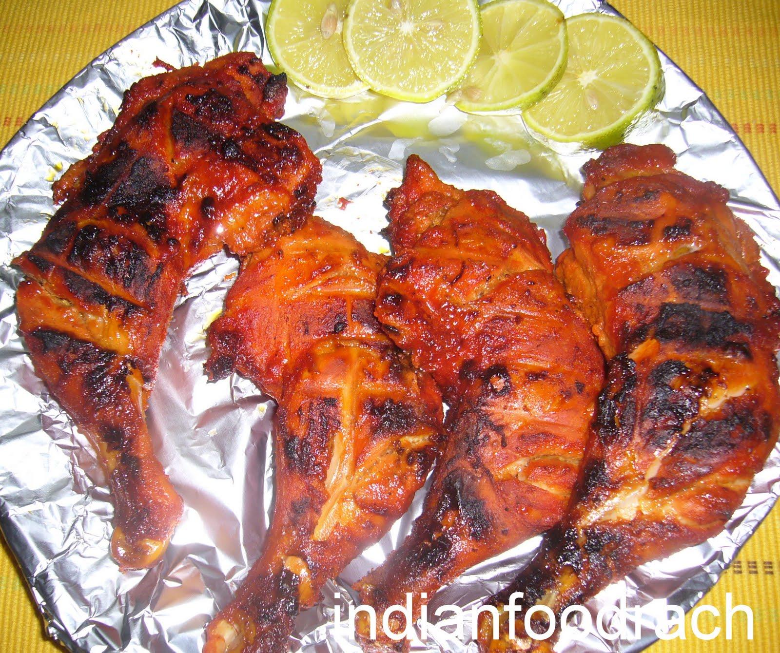 INDIAN FOOD: Tandoori chicken (Tandoori murg/murgh)
