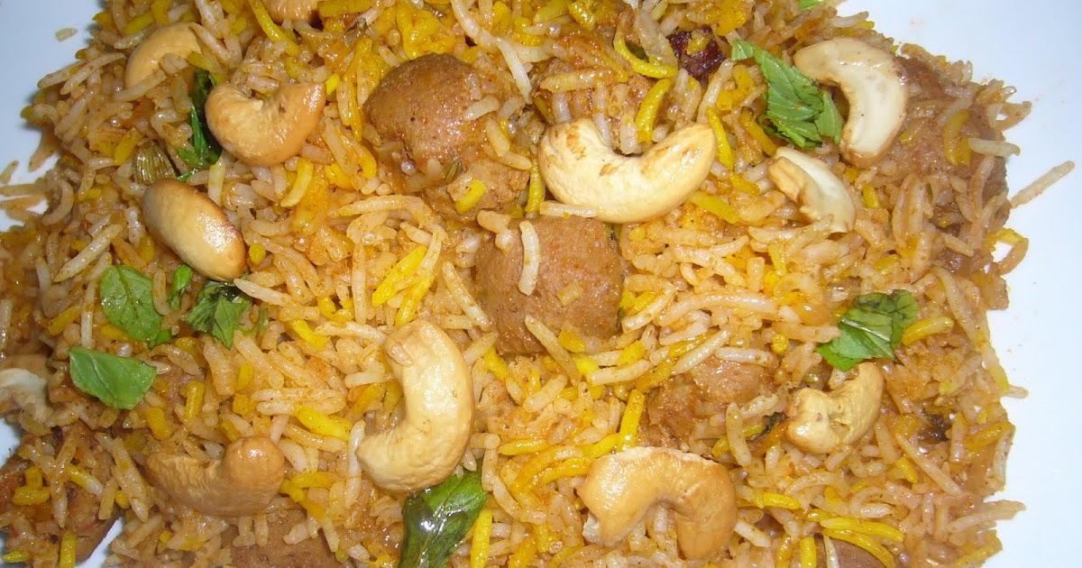 Soya Biryani Recipe Hebbar S Kitchen
