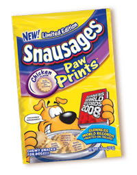 Free Snausages Paw Prints