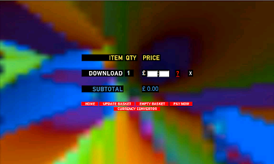 Radiohead's In Rainbows download screen, Name Your Price