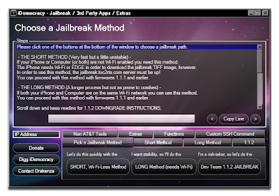 Screenshot of jailbreaking in iDemocracy