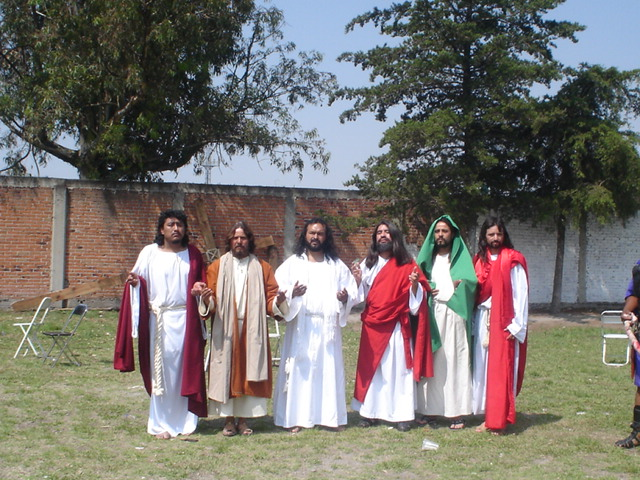 Los Cristos del Congreso 2007 en San Baltazar Campeche, Puebla.