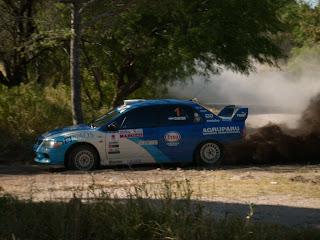 El Choper Cantón con su Mitsubishi N4 es uno de los grandes protagonista de la temporada 2008 del Rally Provincial