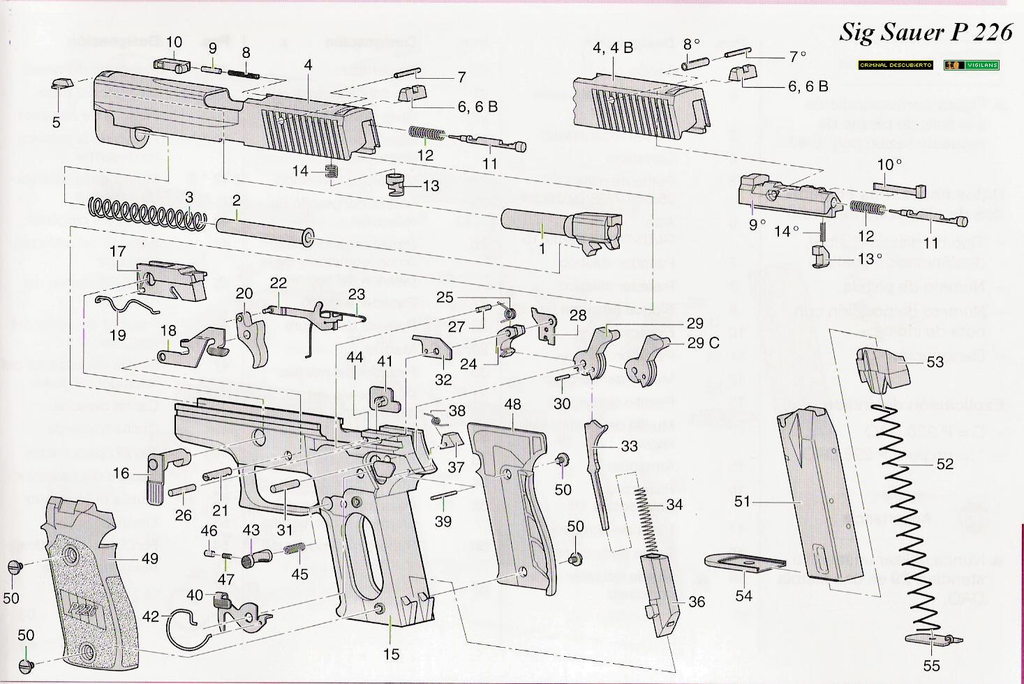sig sauer p226 parts diagram 12v bathroom extractor fan wiring despiece armas: