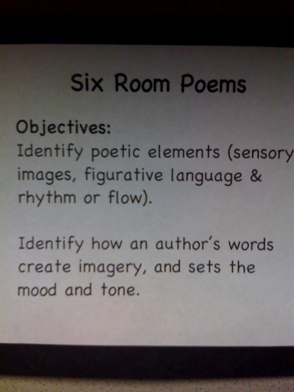 1 Point Safety >> Principal's Point of View: Picture This! Six Room Poems