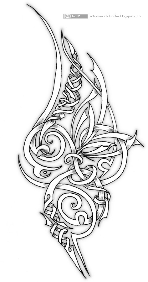 tattoos and doodles ornamental swirly tattoo design. Black Bedroom Furniture Sets. Home Design Ideas