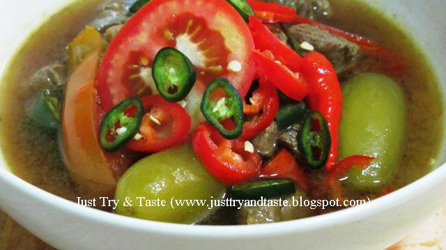Resep Asem-Asem Segar Daging Sapi JTT