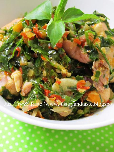 Resep Ayam Masak Leilem/Daun Melinjo