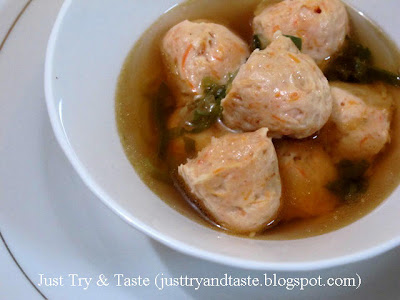Resep Shrimp Ball Soup (Sup Bola-Bola Udang)