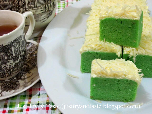 Resep Brownies Kukus Keju Pandan | Just Try & Taste