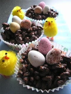 Apple Amp Spice Chocolate Rice Krispie Easter Egg Nests