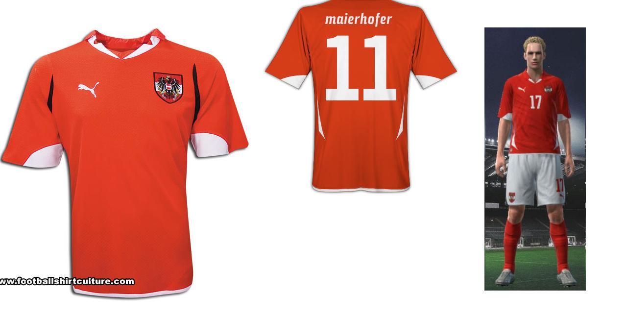 68683c6987c91 PES Master Edition Blog  Uniforme Seleção da Áustria PES 10 11