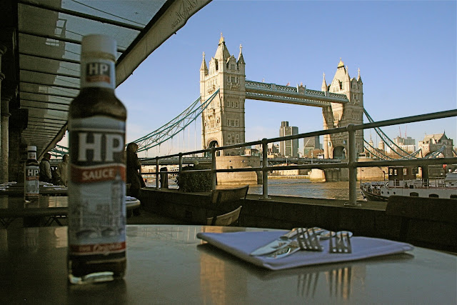 HP sauce, Tower Bridge, London