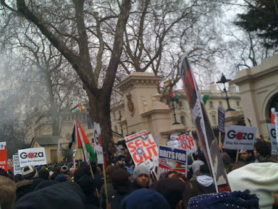 Protest against the bombing of Gaza