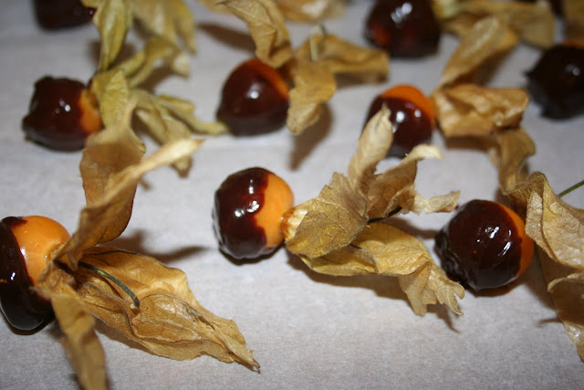 dipped physalis at the Underground Restaurant