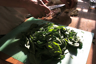 basil for the garnish
