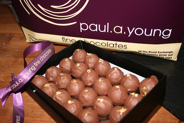 Paul. A. Young's Indian coriander chocolates.
