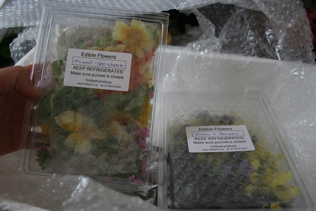 The edible flowers from FirstLeaf in Wales.