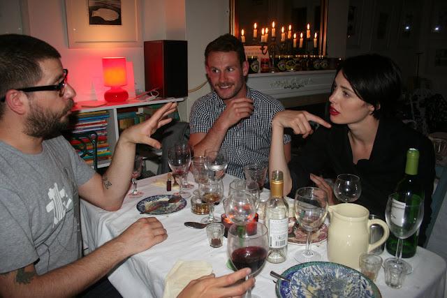 supper club guests:elegant Vogue model