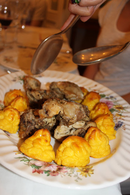 rabbit pommes duchesse, Luisa, caesarina, supper club, Bologna, Italy