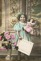 Красивые винтажные открытки детей с игрушками и без) -2.