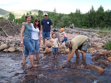 Playing in the river in the mtns