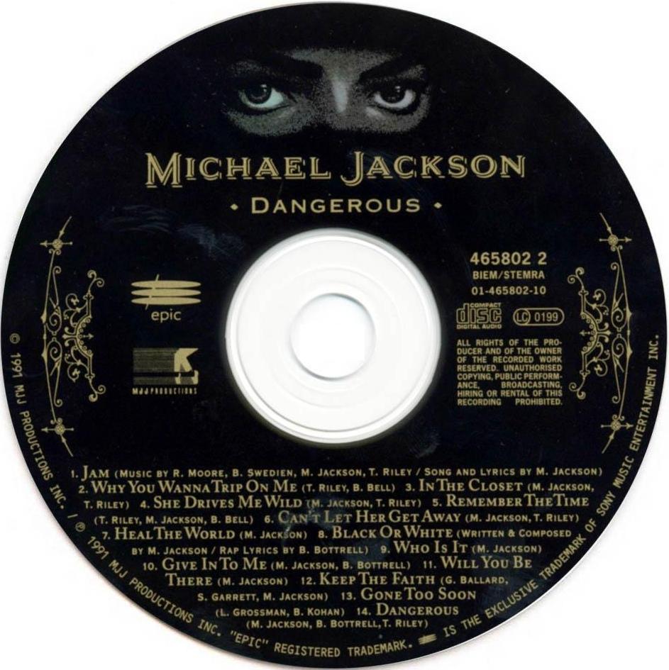 Musicotherapia Michael Jackson Dangerous 1991