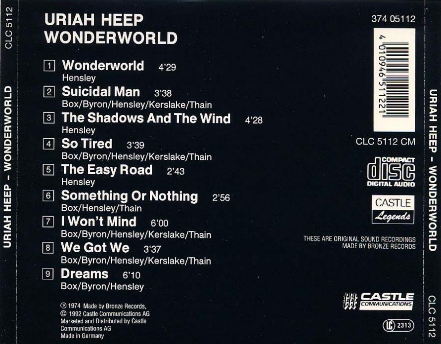 Musicotherapia Uriah Heep Wonderworld 1974