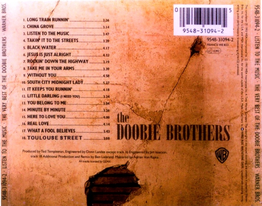 Bad Company 3 Musicotherapia: The Doobie Brothers - Listen To The Music