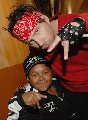 Emmanuel Lewis and Jamie Kennedy