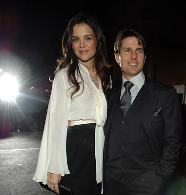 Tom Cruise and Kaite Holmes