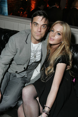 Robbie Williams and Lindsay Lohan