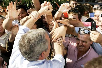 Bush in Albania